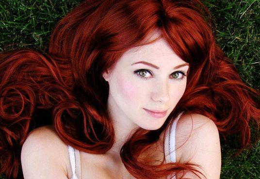 Медные рыжие цвета волос